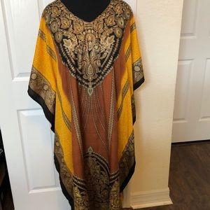 Kaftan Tunic Kimono Dress Summer Maxi Dress